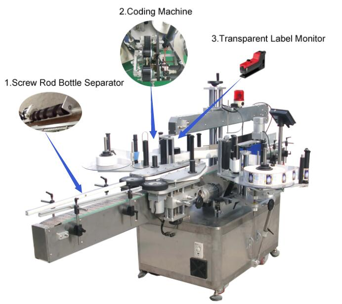 double sides labeling machine, two sides labeling machine