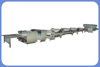 Full automatic 3 layer corrugated cardbaord production line