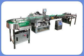 High precision 120 bottles per minute round bottle sticker labeling machine with inkjet printer