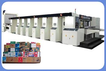 Full-automatic Fixed five Colors Printing slotting and Die-cutter with Stacker